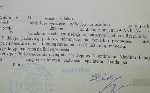 Teisių atėmimo terminas (už neblaivumą) sutrumpintas nuo 12 iki 8 mėn.